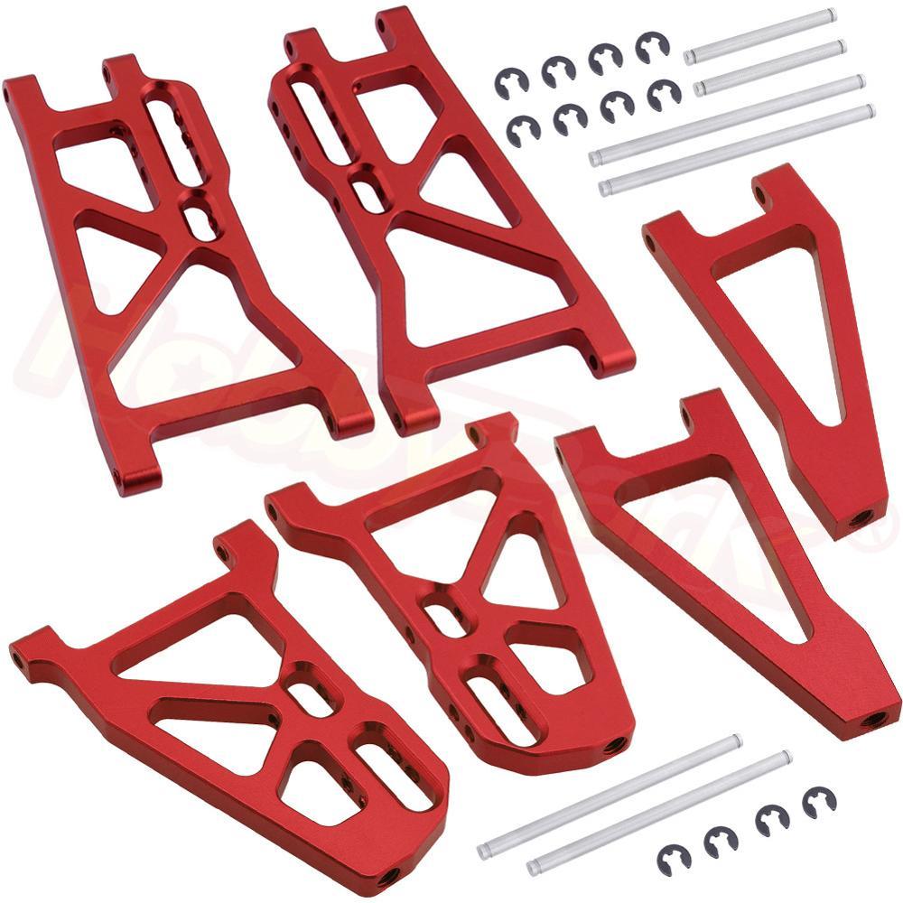 6pcs Metal Aluminum Suspension Arm Set Replace 513006 513007 513008 For FS Racing 1/10 Scale Monster Truck Bigfoot Upgrade Parts