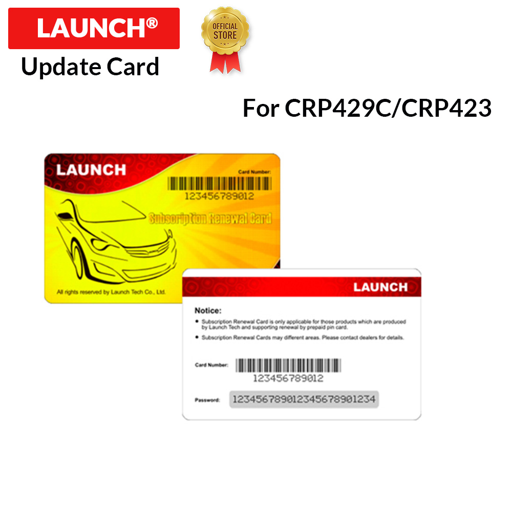 LAUNCH Official Store Pin Card Software Update Card Support For X431 CRP429C / X431 CRP423