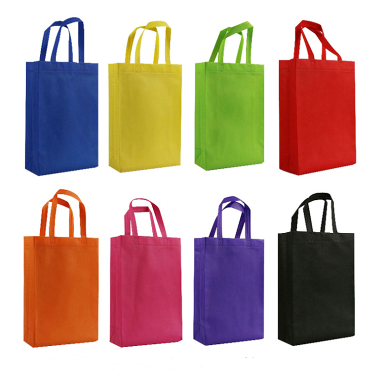 Vogvigo Canvas Tote Bag Foldable Shopping Bags Fabric Handbag Reusable Folding Grocery Nylon Tote Bag Solid Cloth Bag Nylon Bag