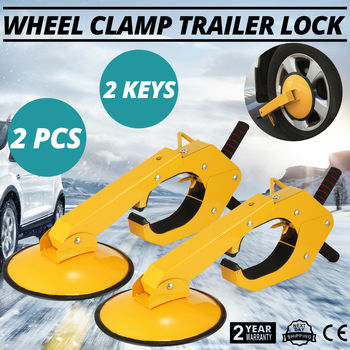 2PCS Wheel Lock Clamp Boot Parking Tire Claw Trailer Auto Car Truck Anti-Theft