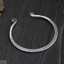 купить 925 Sterling Silver Thai Old Silversmith Handcrafted Exquisite Bracelet Children's Fashionable Personality Bracelet Jewelry по цене 1917.46 рублей