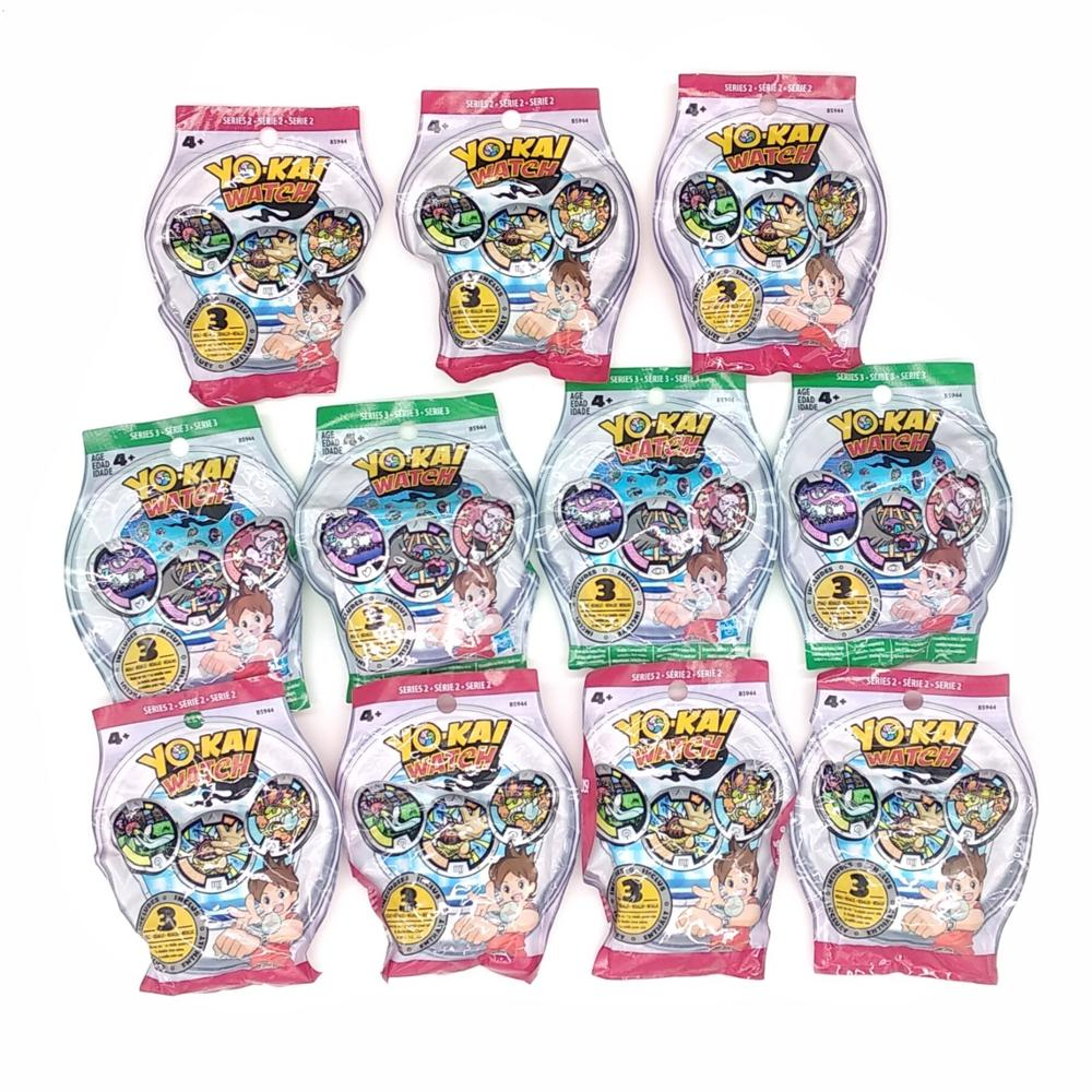 Lot Of 5 Packs YO-KAI YoKai Watch Medals Series 1 Series 2 Series 3 Series 4 Blind Bags Sealed NEW For Kids Boys