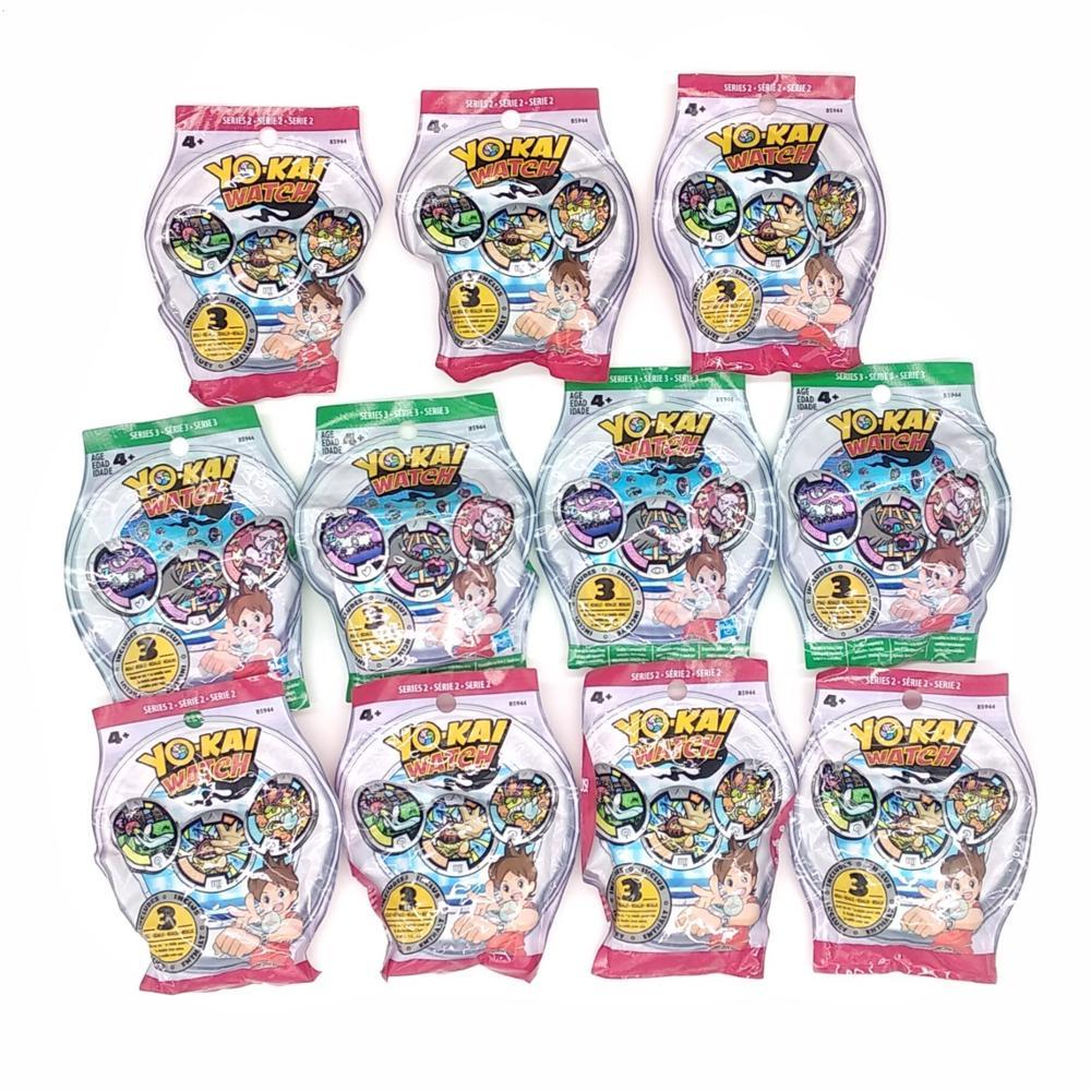 Lot Of 5 Packs YO-KAI YoKai Watch Medals Series 1 Series 2 Series 3 Series 4 Blind Bags Sealed NEW For Kids Boys