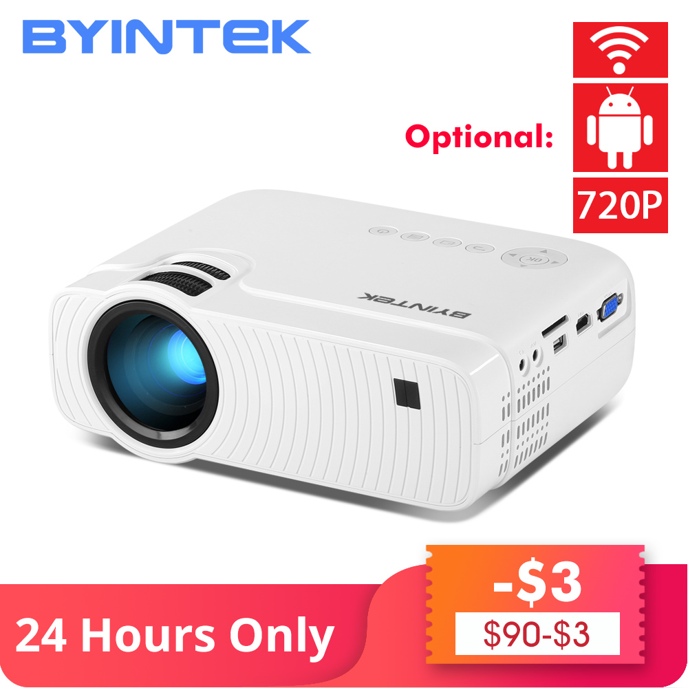 BYINTEK CÉU K2 150 polegada LEVOU Mini Micro USB Para O Jogo De Vídeo Portátil HD Projetor com Speaker HD Filme 1080P Cinema Home Theater