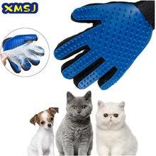Gato animal de estimação grooming escova luvas limpeza eficaz volta massagem animal banho pele remoção do cabelo do cão pentes