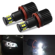 DERI 2 шт. 120 Вт H8 светодиодный Ангельские глазки кольцевые светодиодные огни гало лампы 6500K светодиодные фонари для разметки canbus для BMW E92 E93 E63 E70 X5 X6 фар
