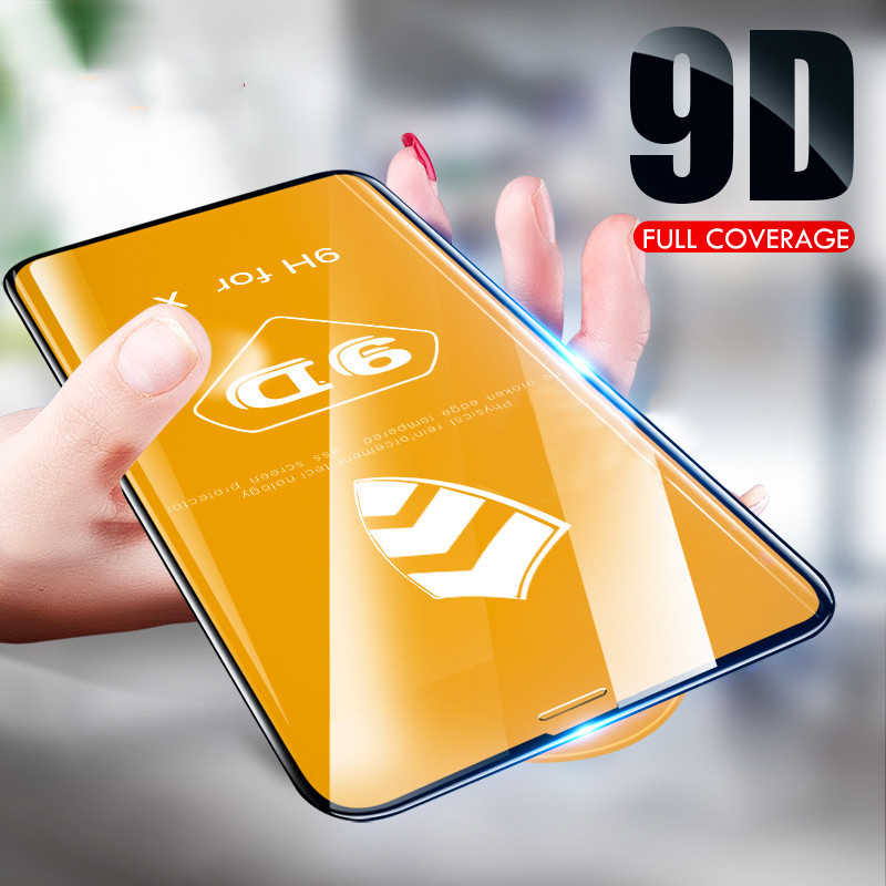 9D Full Curved Tempered glass on for iphone 6 7 8 Plus X XR XS Max 11 Pro Screen protector for iphonex Protective Film Cover