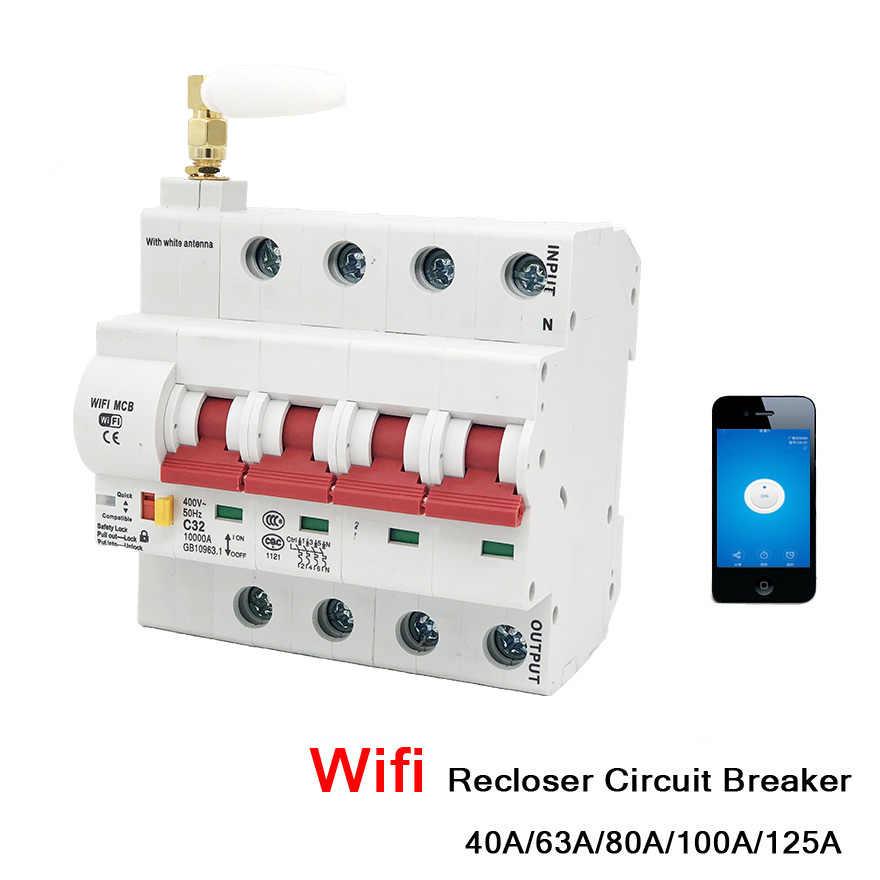 Ewelink 1P 16 A WiFi Smart Interrupteur Disjoncteur automatique Recloser surcharge Sho