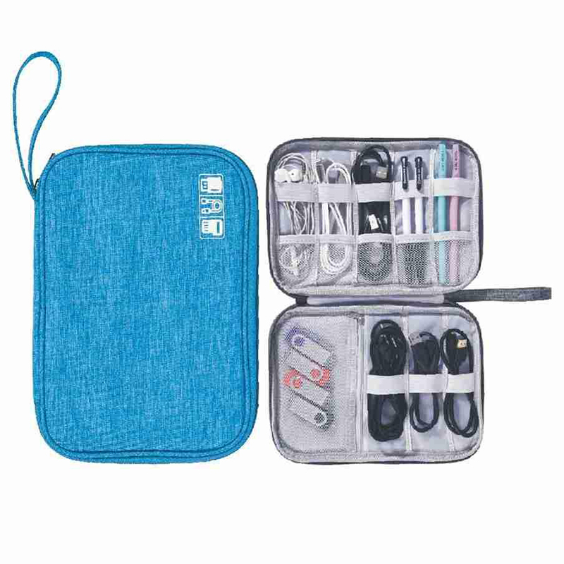 Cable Storage Bag Harger Wire Electronic Organizer Digital Gadget Pouch Cosmetic Kit Case Closet Wardrobe Accessories Supplies