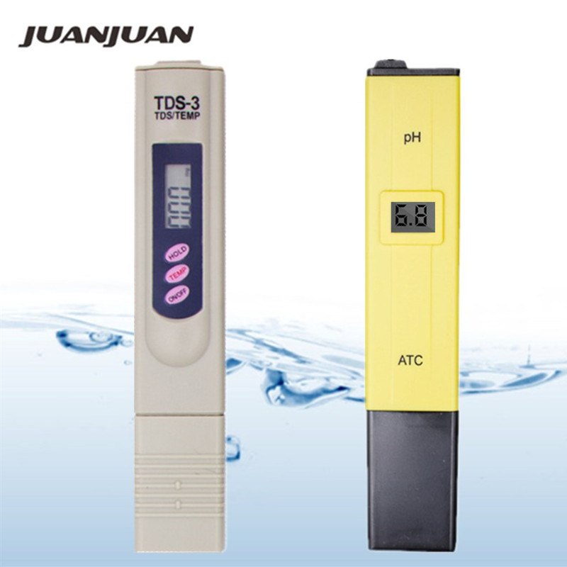 2pcs:PH Tester+TDS Meter / 1pcs PH Meter/ 1pcs TDS Tester FOR Measure Water Quality Purity Swimming Pool Aquarium 23% Off