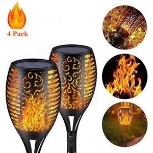 12LED 33LED Solar Flame Torch Light Flickering Waterproof Garden Decor Landscape Lawn Lamp Path Lighting Torch Outdoor Light