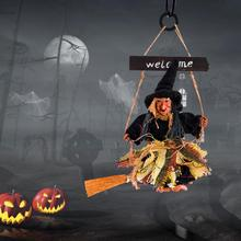 2019 New Festival Broom Witch Ghost Pendant Halloween Party Horror Hanging Ornaments DIY Holloween D