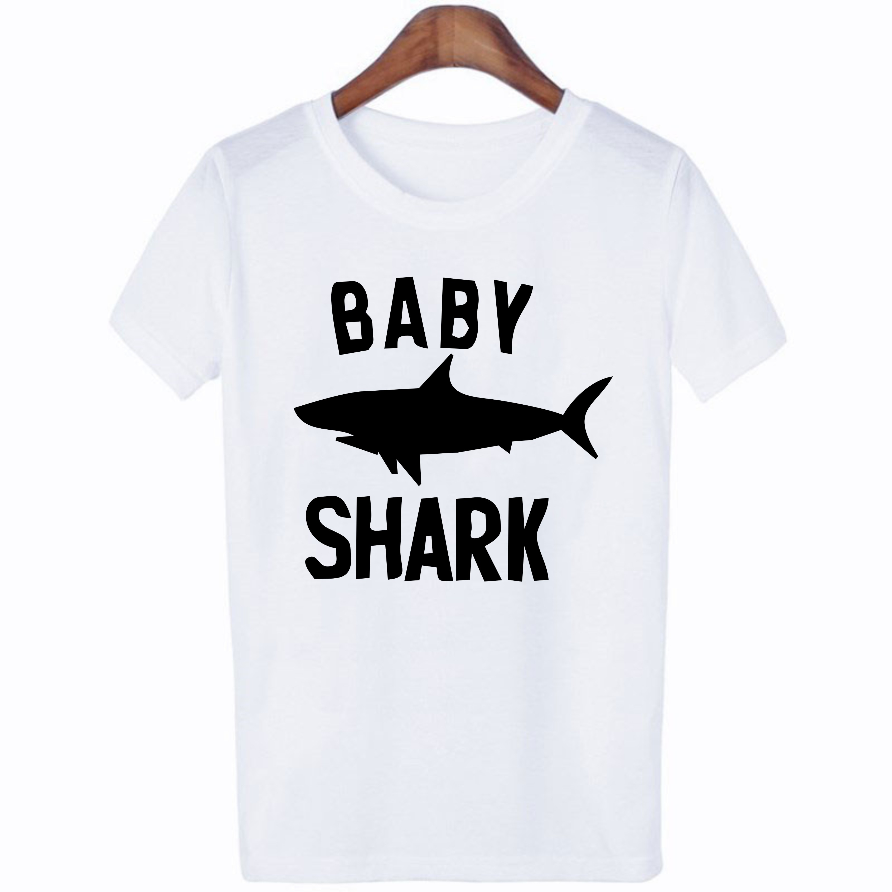 Summer Shark Family Matching Clothes T Shirt Mother Son Dad Girl T Shirts Kids Baby Girl Boys Romper T Shirt Outfits QT-1934 2