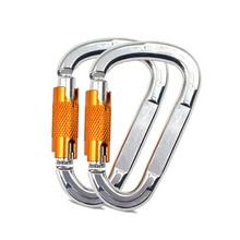 Professionale Arrampicata Moschettone di sicurezza schiocco della parte girevole allingrosso clip di Alluminio di Aeronautica Gancio Maestro Outdoor Dispositivi di Protezione di CARICO MAX