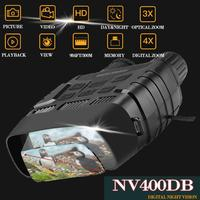 NV400DB HD Digital Night Vision Binoculars with LCD Screen Infrared (IR) Camera Take Photo Video from 300m Night Hunting Goggles