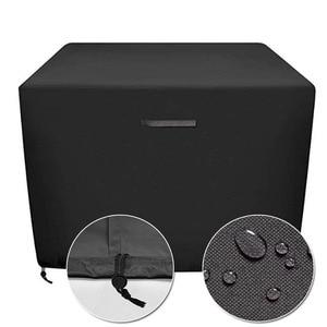 Image 2 - กลางแจ้งแก๊สกันฝน PVC คุณภาพสูงระเบียงกลางแจ้งเตาตาราง,สีดำ Patio Garden เฟอร์นิเจอร์ Fire P