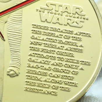 Star Wars Commemorative Coin Anakin Skywalker and Padme Challenge Clones to Attack Science Fiction Movies Art Coins Collectibles saint michael the archangel commemorative challenge coins collection token art