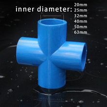 PVC water supply pipe fittings joint Pipe Cross connector Industry Water Pipe joint Adapter Water Supply and Drainage Fittings
