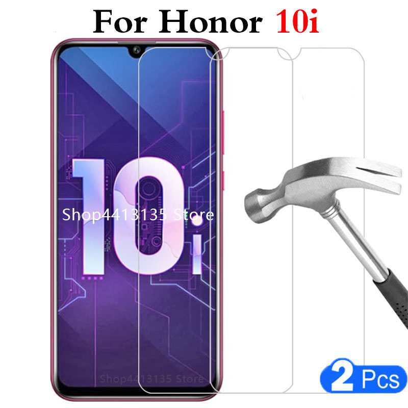 2pcs original tempered glass phone case for huawei honor 10i 10 i Protective shell Accessories safety on honer onor 10i glass 9h