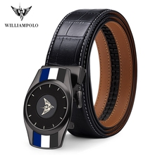 Williampolo 2019 Fashion Men's Belt Automatic Buckle Casual Luxury Brand High Quality Genuine Leather Belt 19932-33P