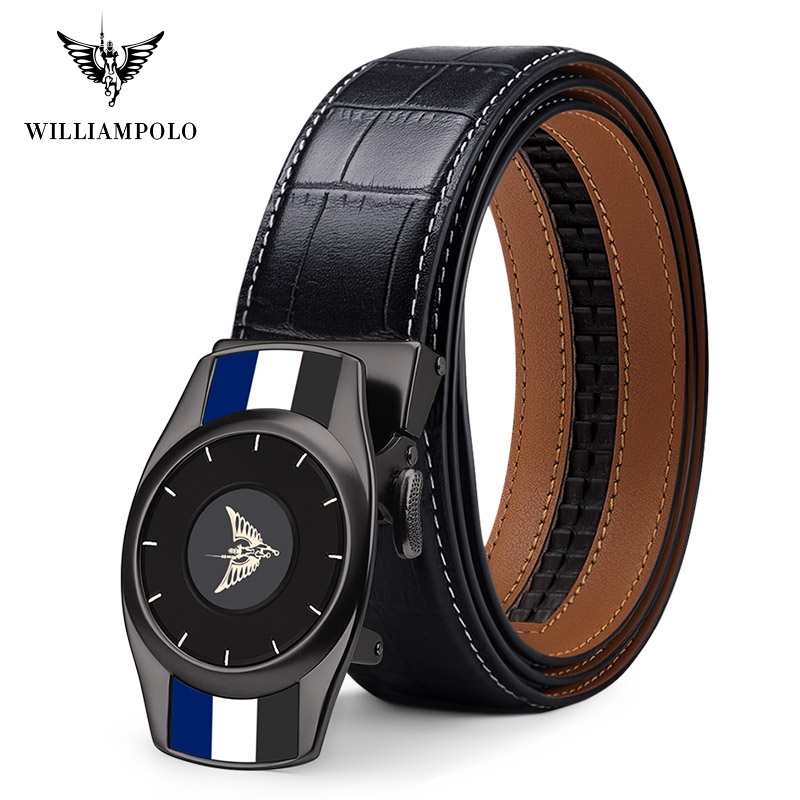 Williampolo Fashion Men s Belt Automatic Buckle Casual Luxury Brand High Quality Genuine Leather Belt 19932