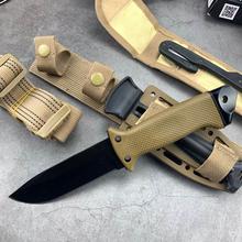7CR17MOV ostrze szybkie otwieranie noże AKC 58HRC odkryty przenośny kieszonkowy EDC Camping nóż taktyczny składany walki wojskowe noże tanie tanio freewolf Maszyny do obróbki drewna CN (pochodzenie) RUBBER STAINLESS STEEL DJ081701 Fixed blade knife 21cm 9 8cm