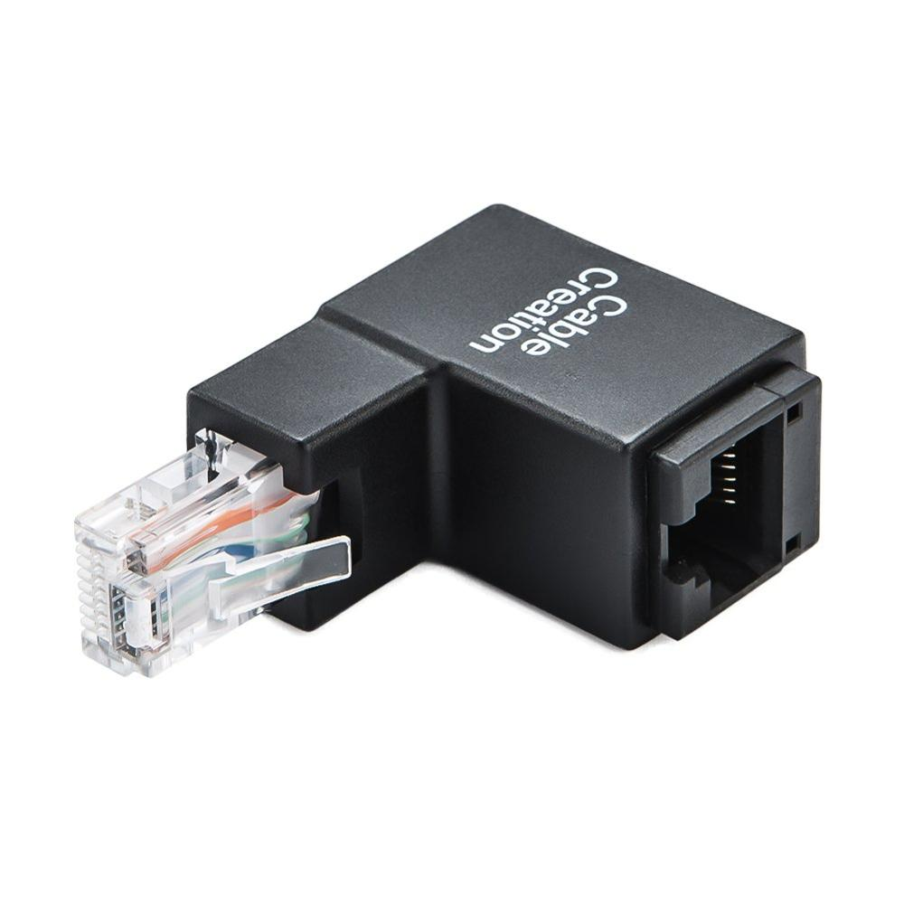 Адаптер Ethernet, 90 градусов и 270 градусов, RJ45/8P8C Ethernet мама к RJ45/8P8C Male, Cat5e/Cat6 Up Angle Ethernet адаптер
