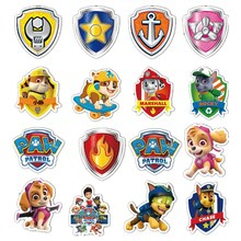Paw patrol toy set patrol dog sticker cartoon toy PVC graffiti sticker Patrulla Canina action character toy children gift paw patrol four generations of upgraded pvc material snow dog beads bevel off road small grams of deformable catapult toy childr