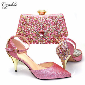 Amazing Pink With Stones Pumps