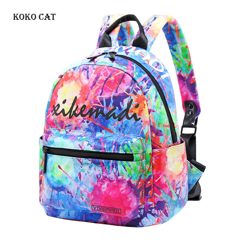 Classic Flamingo Printed Ladies Backpack School Bags For Teenager Girls Travel Bag For Women Sac A Dos Rucksack Mochila Female