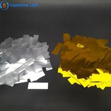 2 кг/лот Золотой и серебристый майлар конфетти бумажная конфетти металлик бумага для машина для конфетти cannon