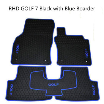 Cutom No Odor Carpets Waterproof Rubber Car Floor Mats for Right Hand Drive RHD Volkswagen Golf 5 6 7 POLO 5 GTI 6GTI 7GTI custom rubber car floor mats for mitsubishi asx waterproof durable carpets for asx