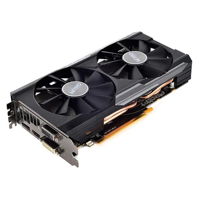 Oryginalny SAPPHIRE R9 380 4GB karty wideo GPU AMD Radeon R9380 4GB karty podwójne Bios pulpit komputer stancjonarny mapa nie górnictwa