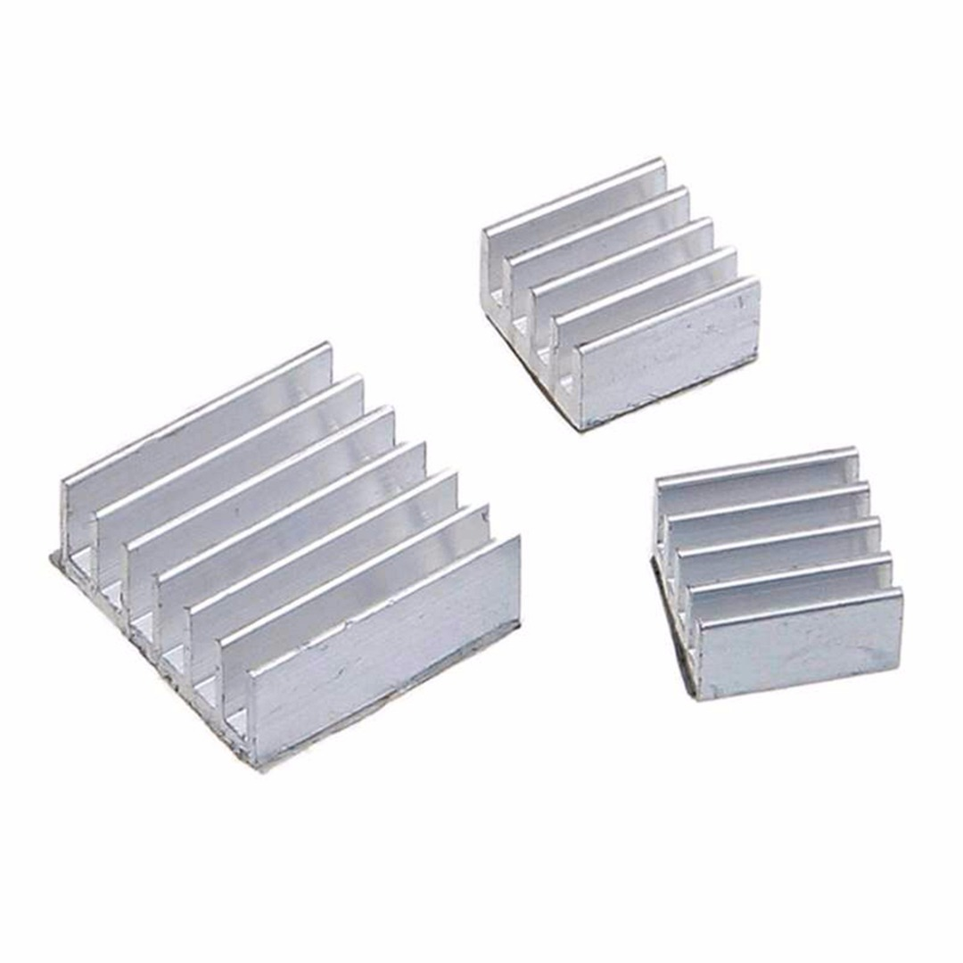 30pcs/set New Raspberry Pi 3 Heatsink Fans Pure Aluminum Heat Sink Aluminum Heat Sink Cooling Cooler For Cooling Pi 2