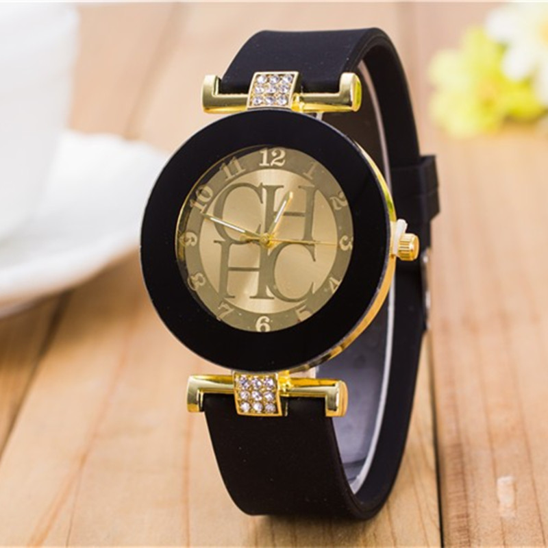 2019 Special Offer Ladies Fashion Casual CHHC Rainstone Quartz Watch Women Crystal Silicone Watch Chasy Cheap Christmas Gifts