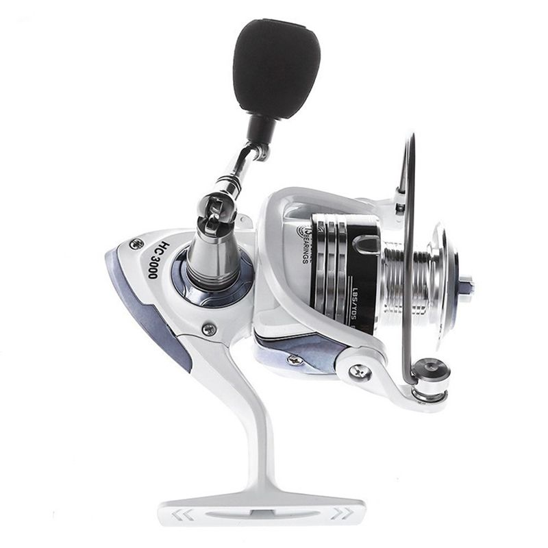 LIE YU WANG 13 + 1BB Gear Ratio 5.2: 1 Spinning Fishing Reel With Exchangeable Handle Automatic Folding For Casting Line HC3000