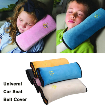 Children Univeral Car Safety Seat Belt Cover Pillow Harness Shoulder Pad Child Protection Covers Cushion Support image