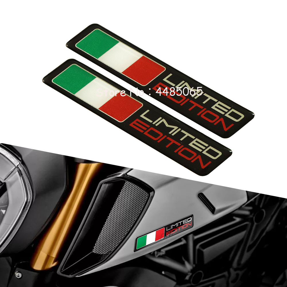 Motorcycle Sticker Italy Flag Limited Edition Stickers Case For Aprilia RS4 RSV4 Ducati Monster 1199 1299 1098