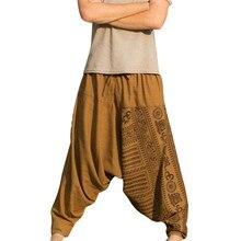 Мужские Длинные повседневные свободные брюки с принтом, большие размеры, национальные брюки, мужские штаны для бега, мужские уличные брюки в стиле хип-хоп
