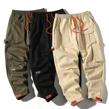 Fashion Cargo Pants Men Streetwear Sweatpants 2020 New Multi Pocket Jogger Pants Men Cotton Trousers High Street Quality Pants