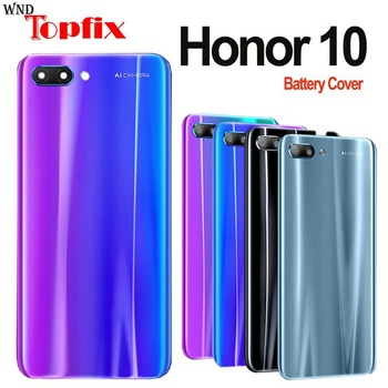 For Huawei honor 10 Back Battery Cover Door Rear Glass Housing Case Huawei honor10 Battery Cover honor 10 housing back glass for huawei honor 8 glass back cover housing battery cover case for honor8 back glass replacement parts