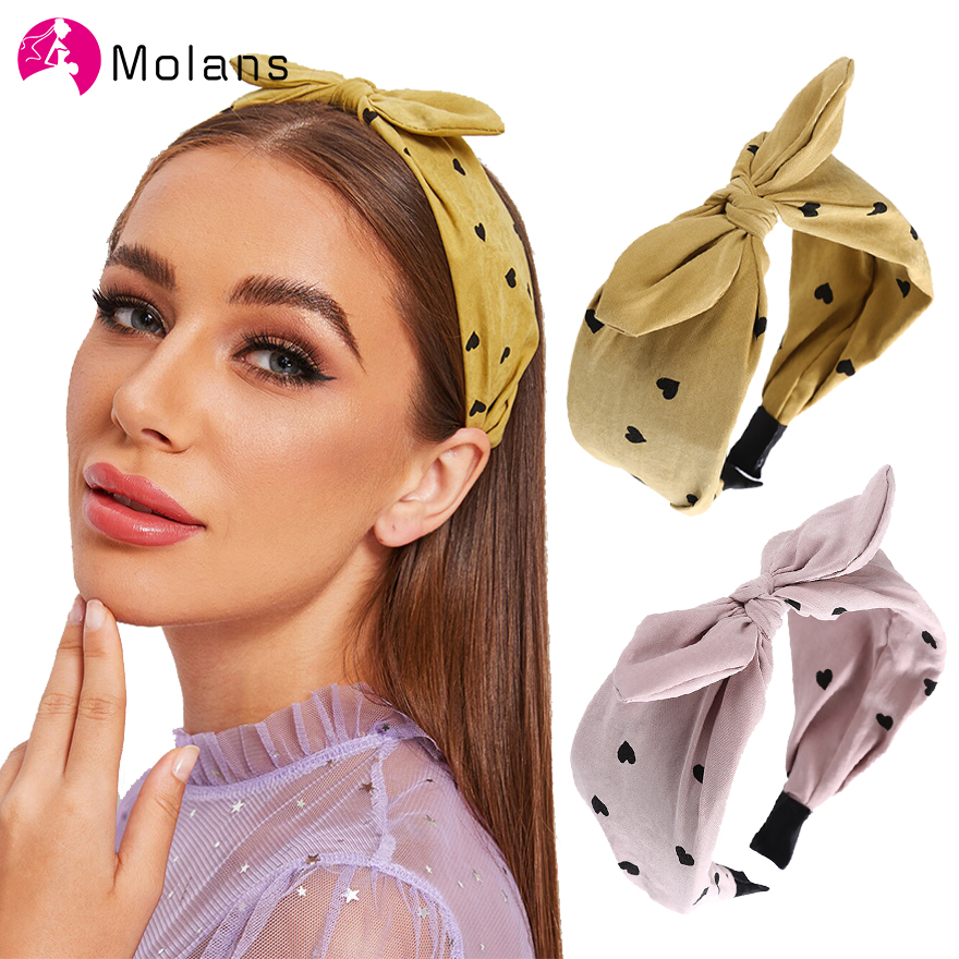 NEW Women Girl Retro bow Bunny ear lace wire Party Hair head band headband Wrap