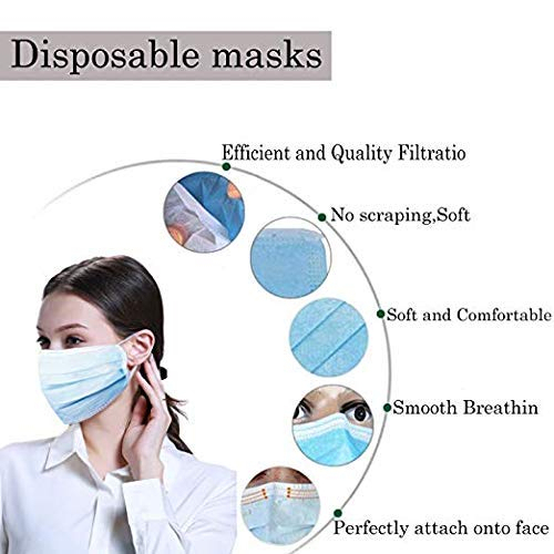 Anti-Pollution 3 ply Layer Face Mask mouth flu dust protection Disposable Elastic Ear Loop Filter Safety 10-50 pcs 4