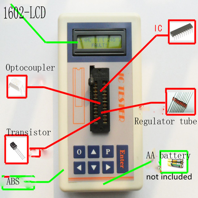 Portable Integrated circuit tester IC testers transistor Meter online maintenance Digital LED ic tester