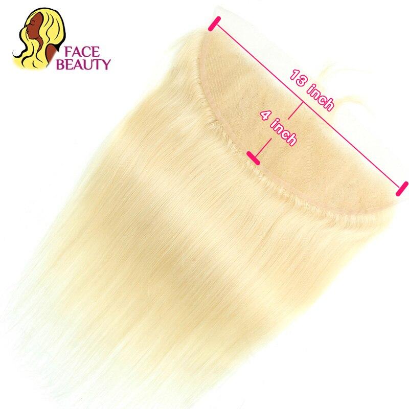 Лицевая красота 13x6 ухо к уху кружево Фронтальная Закрытие Омбре 1B/613 блонд Remy перуанские прямые предварительно сорванные фронтальные с детс...