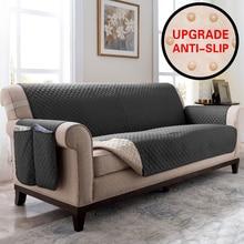 Mặt cắt Sofa Giường Bao Da Cho Thú Cưng Trẻ Em Thảm Thun Co Giãn Chống Bẹp Đầu Ghế SOFA Nội Thất Bảo Vệ Chống Nước Chống Trơn Trượt