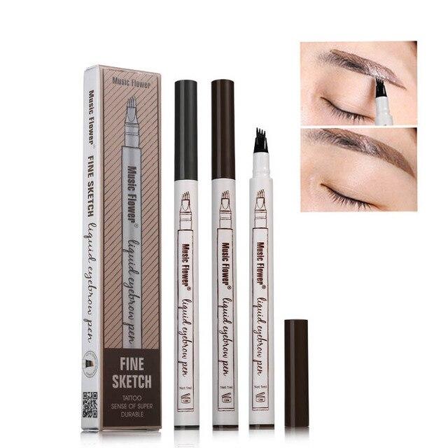 1 PCS 4 Arrow Heads Microblading Liquid Eyebrow Pencil Waterproof Sharp Tips Eye Brow Pencils Eye Liner Beauty Makeup Tools 1