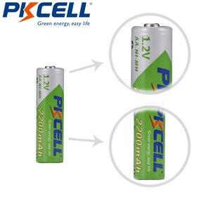Image 4 - 6 個のx pkcell 2200 2600mahの 1.2vニッケル水素単三充電式バッテリーの低自己放電電池ニッケル水素懐中電灯おもちゃバッテリー