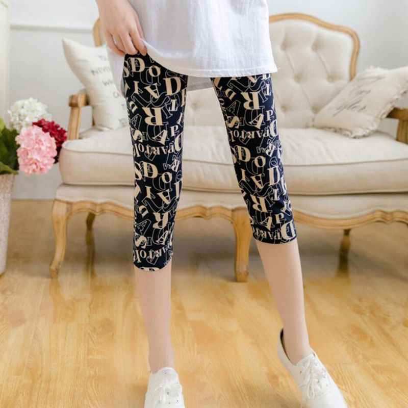 YGYEEG New Fashion Letter Print Leggings Women Slim Fitness High Waist Elastic Workout Leggings For Gym Sport Running Capris