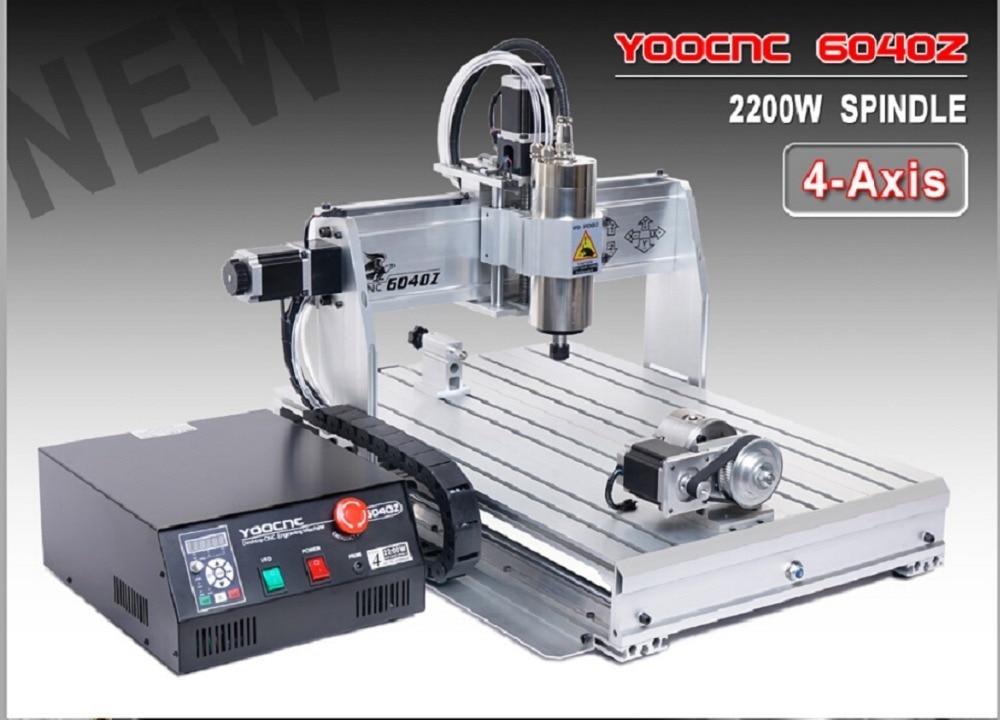 EU,DE,Free VAT 4 Axis CNC 6040 2200w 2.2KW USB Port USB Mach3 CNC Router / Milling Machine/Engraver Engraving Machine 220V/AC